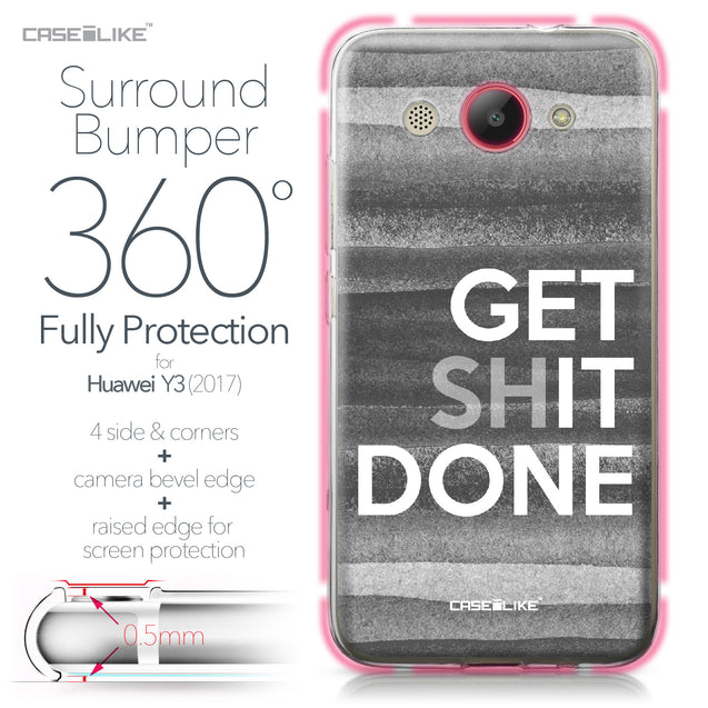 Huawei Y3 2017 case Quote 2429 Bumper Case Protection | CASEiLIKE.com
