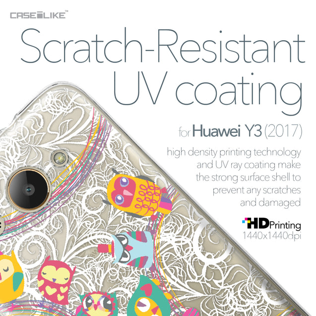 Huawei Y3 2017 case Owl Graphic Design 3316 with UV-Coating Scratch-Resistant Case | CASEiLIKE.com