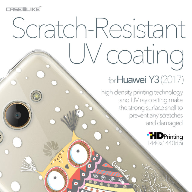 Huawei Y3 2017 case Owl Graphic Design 3317 with UV-Coating Scratch-Resistant Case | CASEiLIKE.com