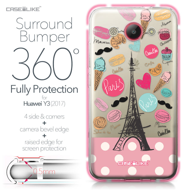 Huawei Y3 2017 case Paris Holiday 3904 Bumper Case Protection | CASEiLIKE.com