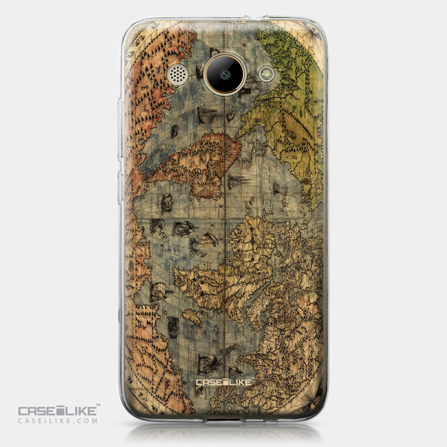 Huawei Y3 2017 case World Map Vintage 4608 | CASEiLIKE.com