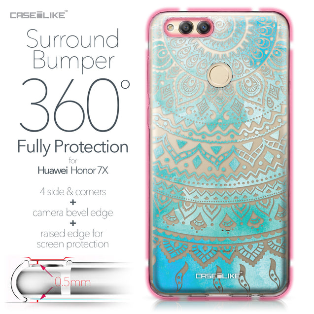 Huawei Honor 7X case Indian Line Art 2066 Bumper Case Protection | CASEiLIKE.com