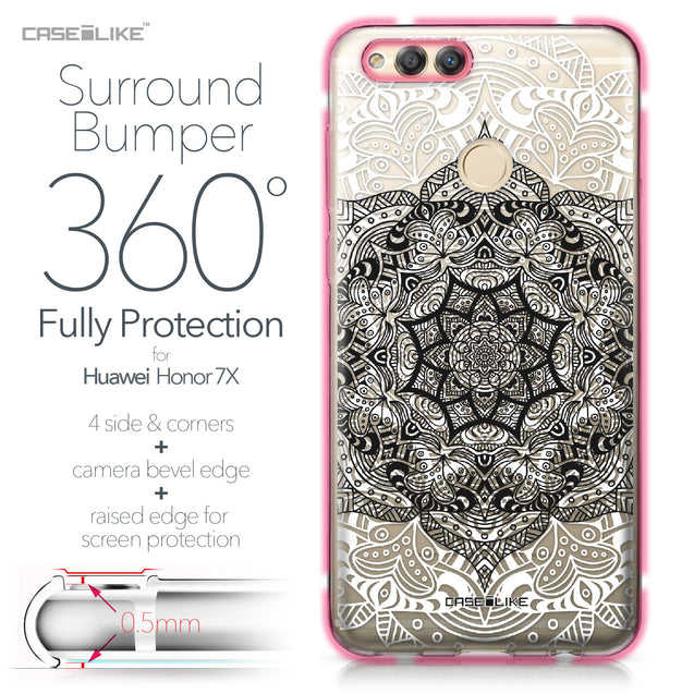 Huawei Honor 7X case Mandala Art 2097 Bumper Case Protection | CASEiLIKE.com