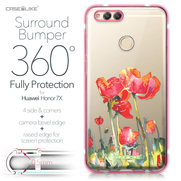 Huawei Honor 7X case Watercolor Floral 2230 Bumper Case Protection | CASEiLIKE.com