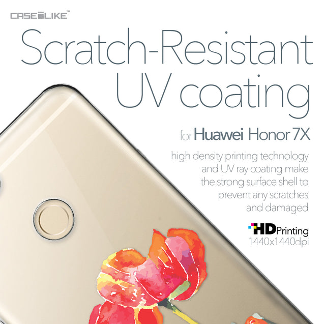 Huawei Honor 7X case Watercolor Floral 2230 with UV-Coating Scratch-Resistant Case | CASEiLIKE.com