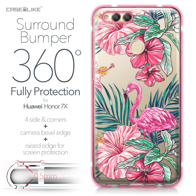 Huawei Honor 7X case Tropical Flamingo 2239 Bumper Case Protection | CASEiLIKE.com