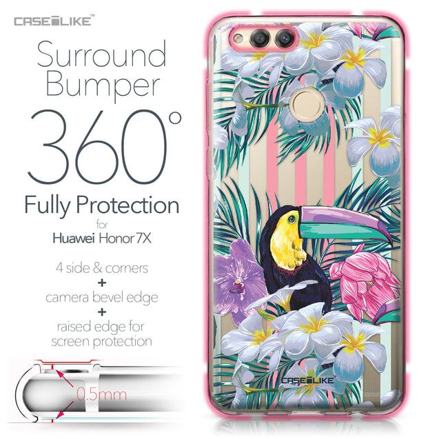 Huawei Honor 7X case Tropical Floral 2240 Bumper Case Protection | CASEiLIKE.com