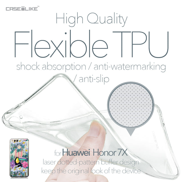 Huawei Honor 7X case Tropical Floral 2240 Soft Gel Silicone Case | CASEiLIKE.com