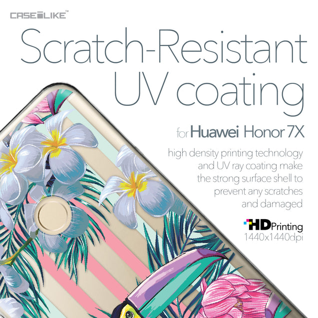 Huawei Honor 7X case Tropical Floral 2240 with UV-Coating Scratch-Resistant Case | CASEiLIKE.com