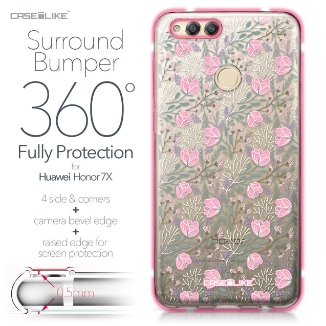 Huawei Honor 7X case Flowers Herbs 2246 Bumper Case Protection | CASEiLIKE.com