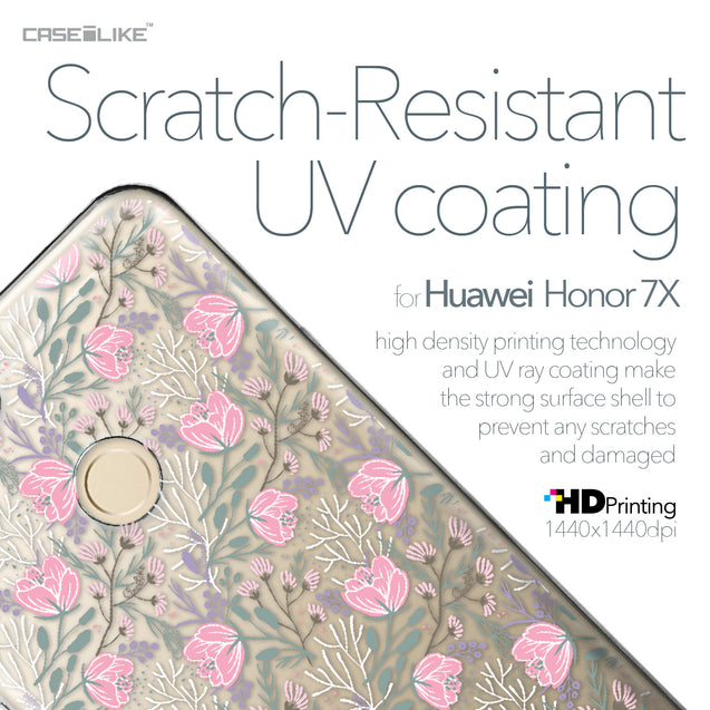 Huawei Honor 7X case Flowers Herbs 2246 with UV-Coating Scratch-Resistant Case | CASEiLIKE.com