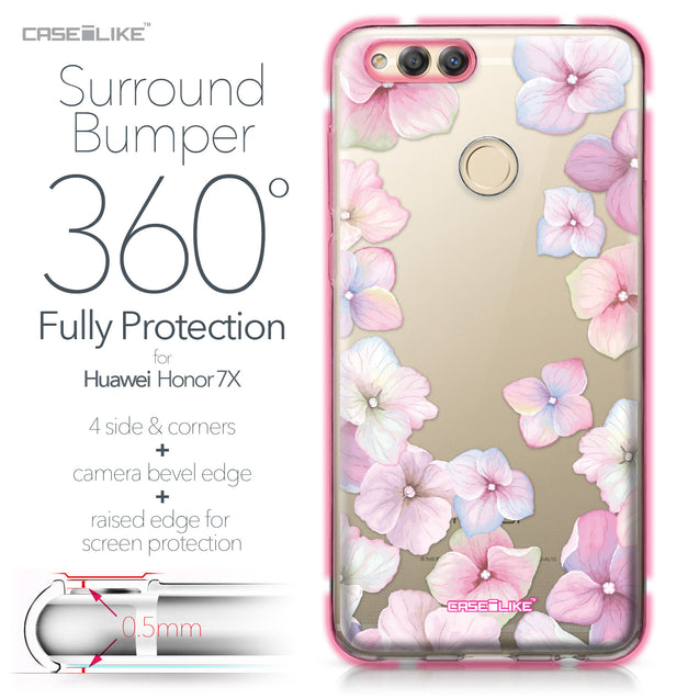 Huawei Honor 7X case Hydrangea 2257 Bumper Case Protection | CASEiLIKE.com