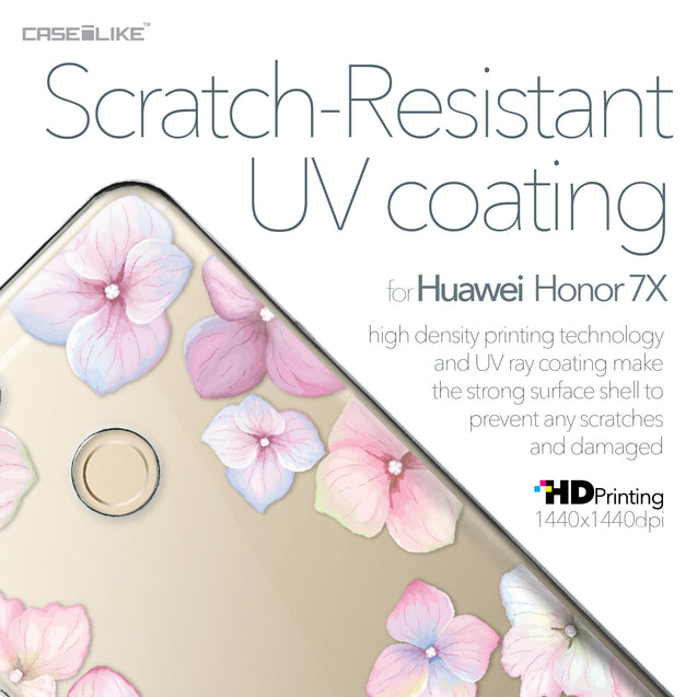 Huawei Honor 7X case Hydrangea 2257 with UV-Coating Scratch-Resistant Case | CASEiLIKE.com