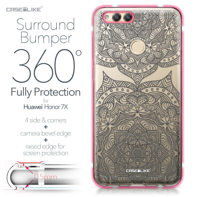 Huawei Honor 7X case Mandala Art 2304 Bumper Case Protection | CASEiLIKE.com