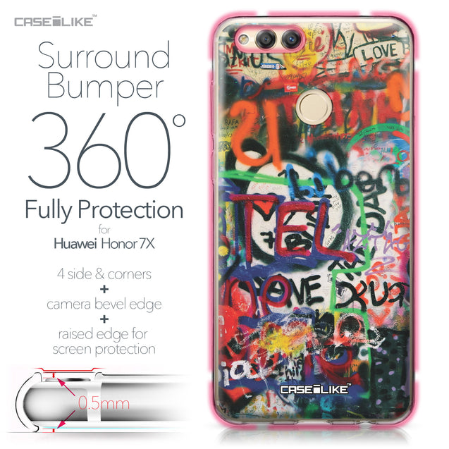 Huawei Honor 7X case Graffiti 2721 Bumper Case Protection | CASEiLIKE.com