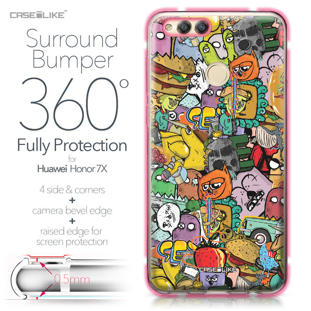 Huawei Honor 7X case Graffiti 2731 Bumper Case Protection | CASEiLIKE.com