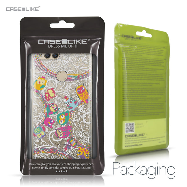 Huawei Honor 7X case Owl Graphic Design 3316 Retail Packaging | CASEiLIKE.com