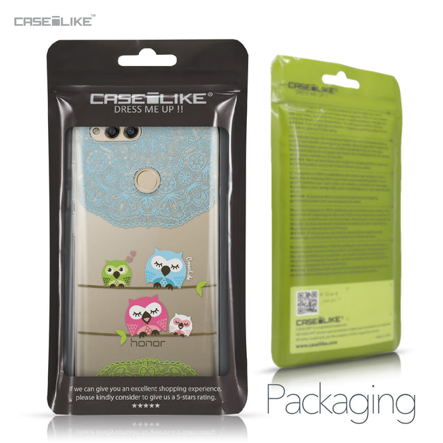 Huawei Honor 7X case Owl Graphic Design 3318 Retail Packaging | CASEiLIKE.com