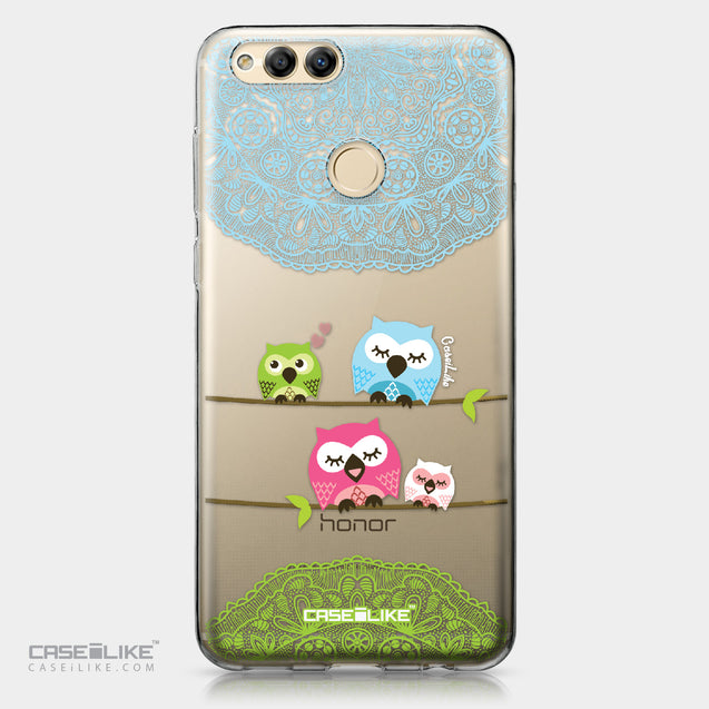 Huawei Honor 7X case Owl Graphic Design 3318 | CASEiLIKE.com