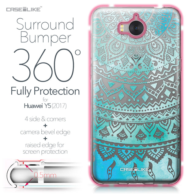 Huawei Y5 2017 case Indian Line Art 2066 Bumper Case Protection | CASEiLIKE.com