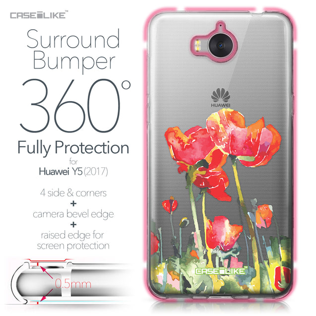 Huawei Y5 2017 case Watercolor Floral 2230 Bumper Case Protection | CASEiLIKE.com