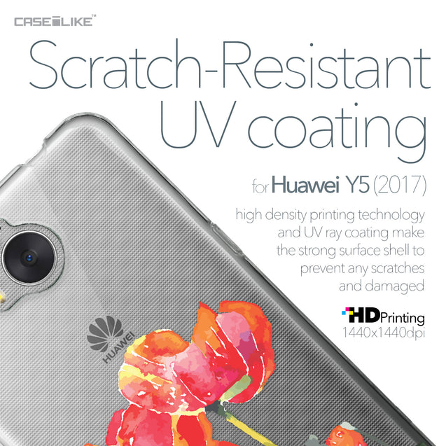 Huawei Y5 2017 case Watercolor Floral 2230 with UV-Coating Scratch-Resistant Case | CASEiLIKE.com