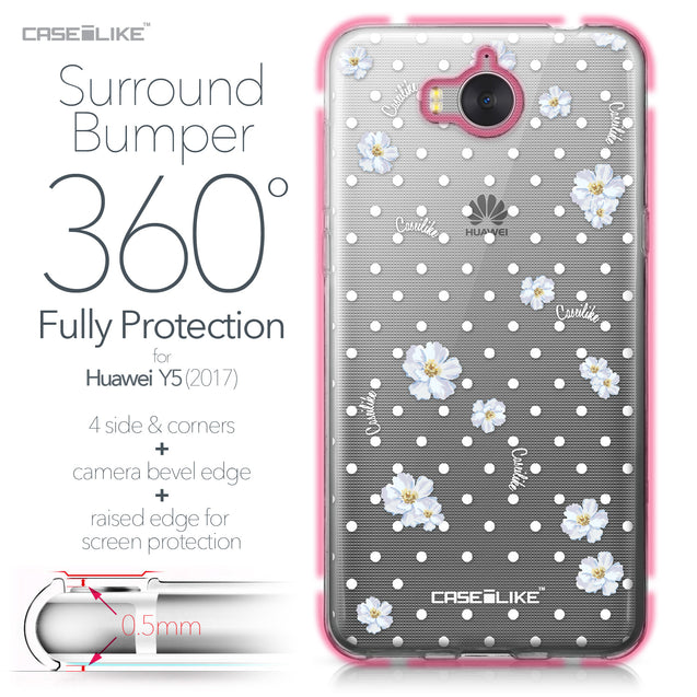Huawei Y5 2017 case Watercolor Floral 2235 Bumper Case Protection | CASEiLIKE.com