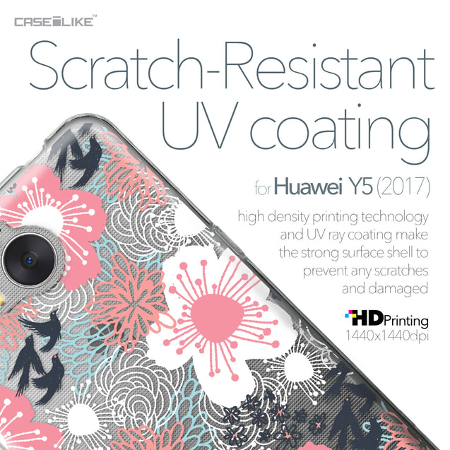 Huawei Y5 2017 case Japanese Floral 2255 with UV-Coating Scratch-Resistant Case | CASEiLIKE.com