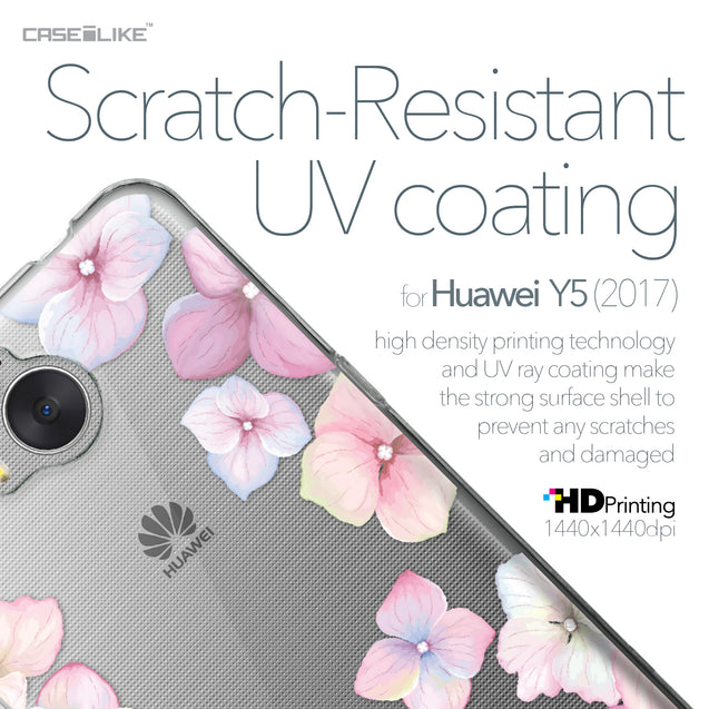 Huawei Y5 2017 case Hydrangea 2257 with UV-Coating Scratch-Resistant Case | CASEiLIKE.com