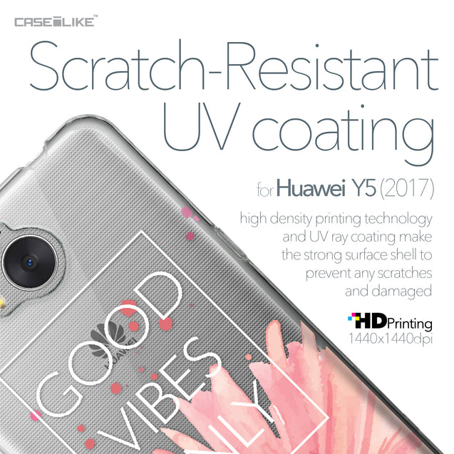 Huawei Y5 2017 case Gerbera 2258 with UV-Coating Scratch-Resistant Case | CASEiLIKE.com