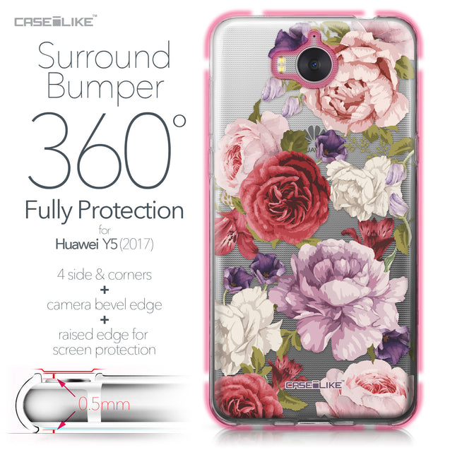 Huawei Y5 2017 case Mixed Roses 2259 Bumper Case Protection | CASEiLIKE.com