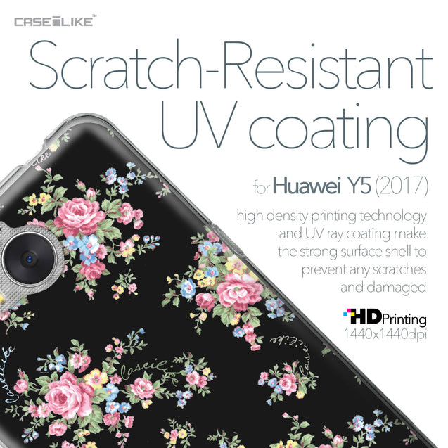 Huawei Y5 2017 case Floral Rose Classic 2261 with UV-Coating Scratch-Resistant Case | CASEiLIKE.com
