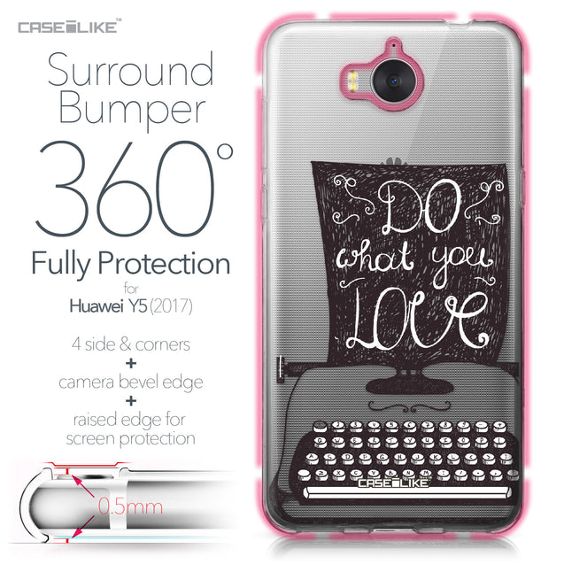 Huawei Y5 2017 case Quote 2400 Bumper Case Protection | CASEiLIKE.com