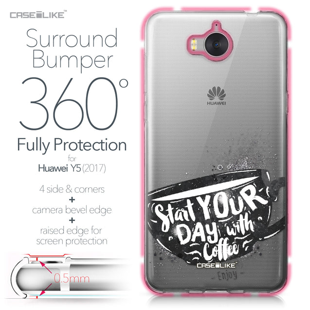 Huawei Y5 2017 case Quote 2402 Bumper Case Protection | CASEiLIKE.com