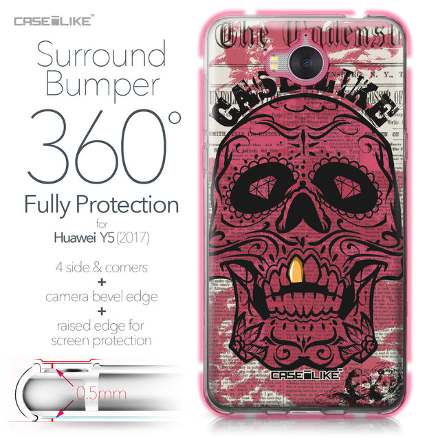 Huawei Y5 2017 case Art of Skull 2523 Bumper Case Protection | CASEiLIKE.com
