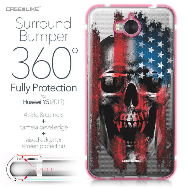 Huawei Y5 2017 case Art of Skull 2532 Bumper Case Protection | CASEiLIKE.com