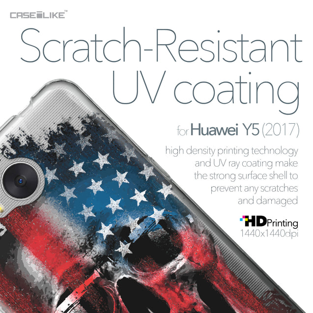 Huawei Y5 2017 case Art of Skull 2532 with UV-Coating Scratch-Resistant Case | CASEiLIKE.com