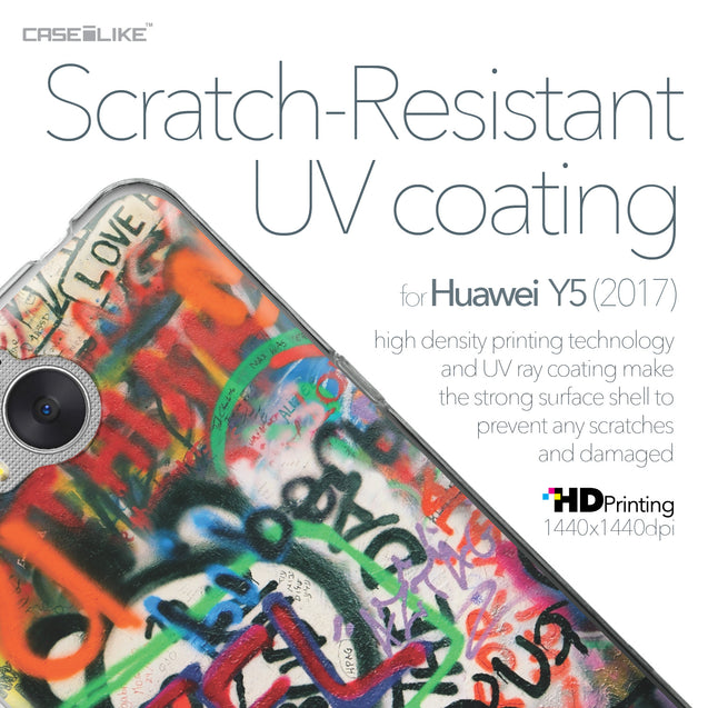 Huawei Y5 2017 case Graffiti 2721 with UV-Coating Scratch-Resistant Case | CASEiLIKE.com