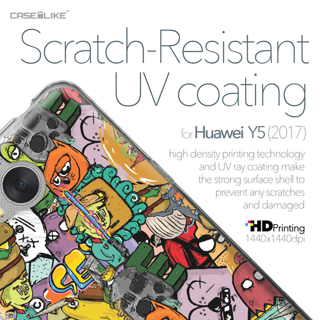 Huawei Y5 2017 case Graffiti 2731 with UV-Coating Scratch-Resistant Case | CASEiLIKE.com