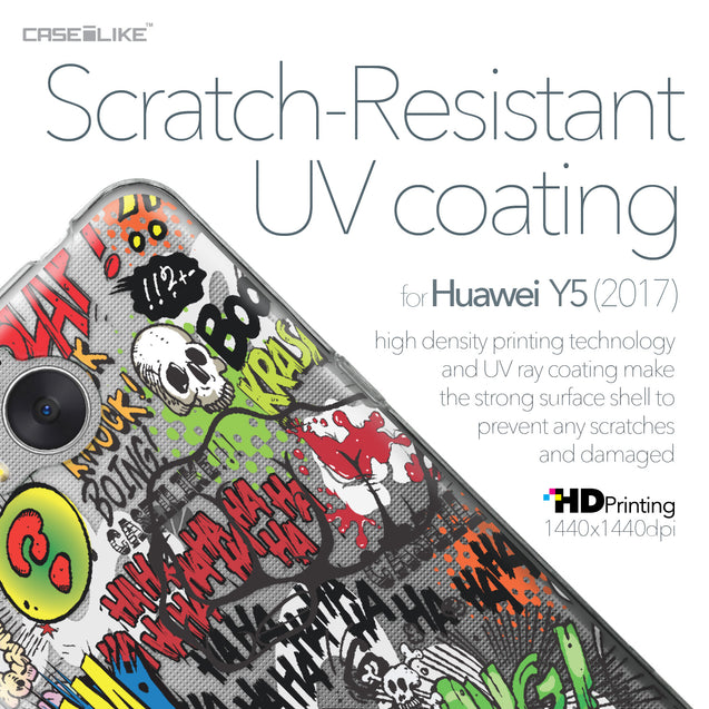 Huawei Y5 2017 case Comic Captions 2914 with UV-Coating Scratch-Resistant Case | CASEiLIKE.com