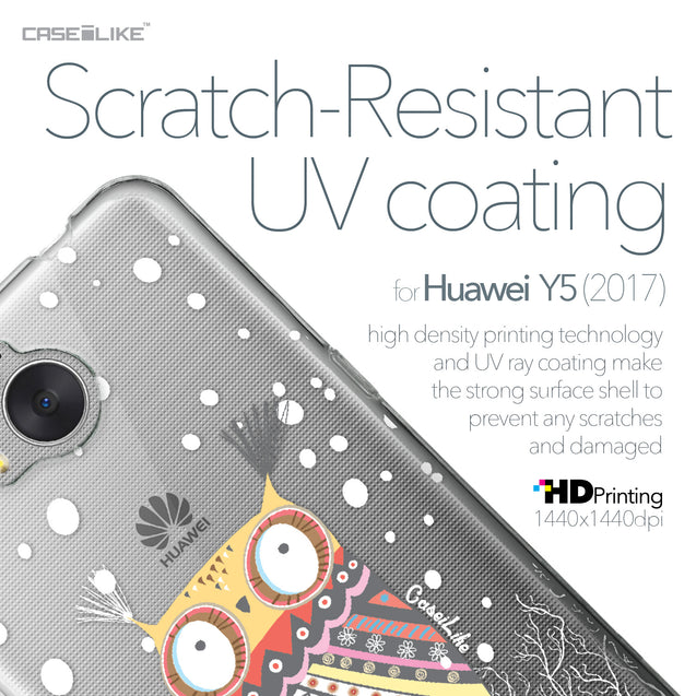 Huawei Y5 2017 case Owl Graphic Design 3317 with UV-Coating Scratch-Resistant Case | CASEiLIKE.com