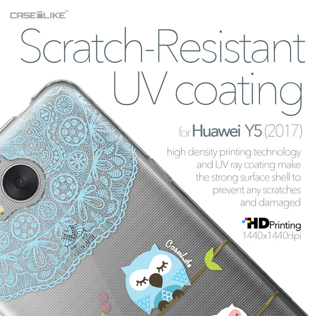 Huawei Y5 2017 case Owl Graphic Design 3318 with UV-Coating Scratch-Resistant Case | CASEiLIKE.com