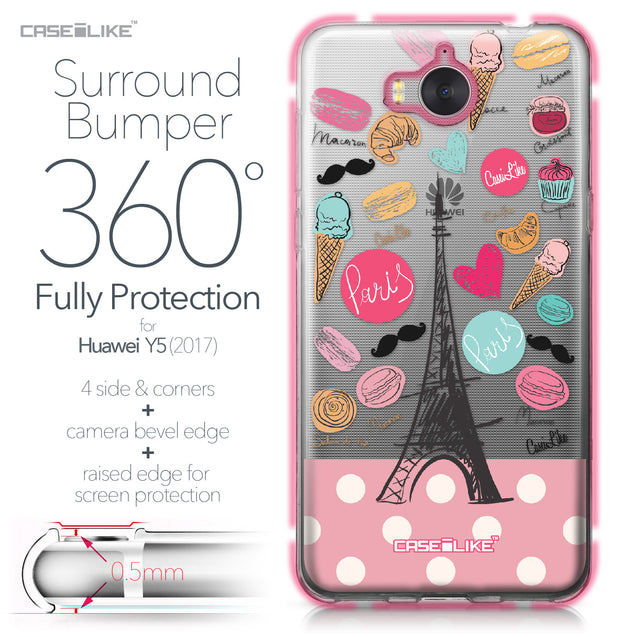 Huawei Y5 2017 case Paris Holiday 3904 Bumper Case Protection | CASEiLIKE.com