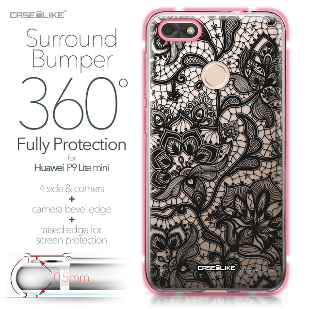 Huawei P9 Lite mini case Lace 2037 Bumper Case Protection | CASEiLIKE.com