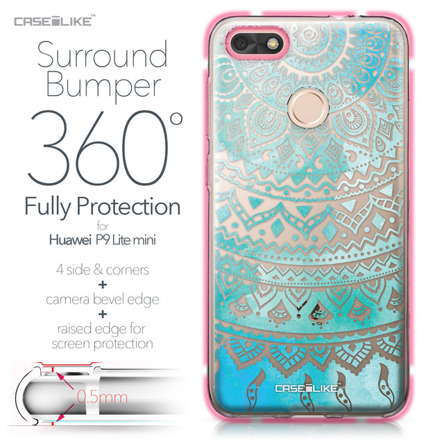 Huawei P9 Lite mini case Indian Line Art 2066 Bumper Case Protection | CASEiLIKE.com