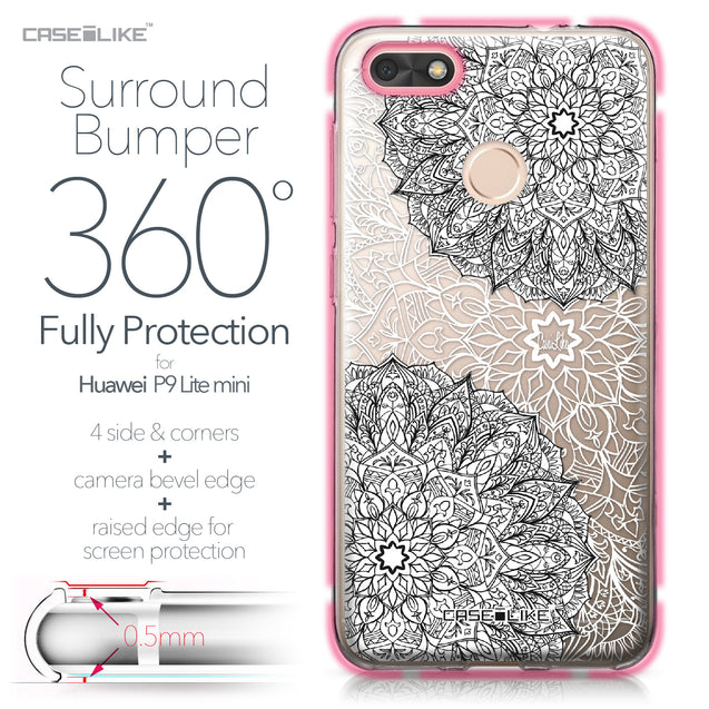 Huawei P9 Lite mini case Mandala Art 2093 Bumper Case Protection | CASEiLIKE.com