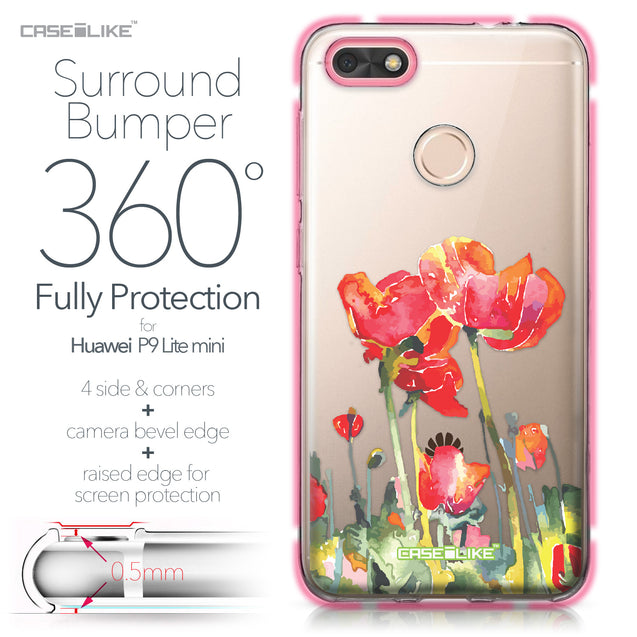 Huawei P9 Lite mini case Watercolor Floral 2230 Bumper Case Protection | CASEiLIKE.com
