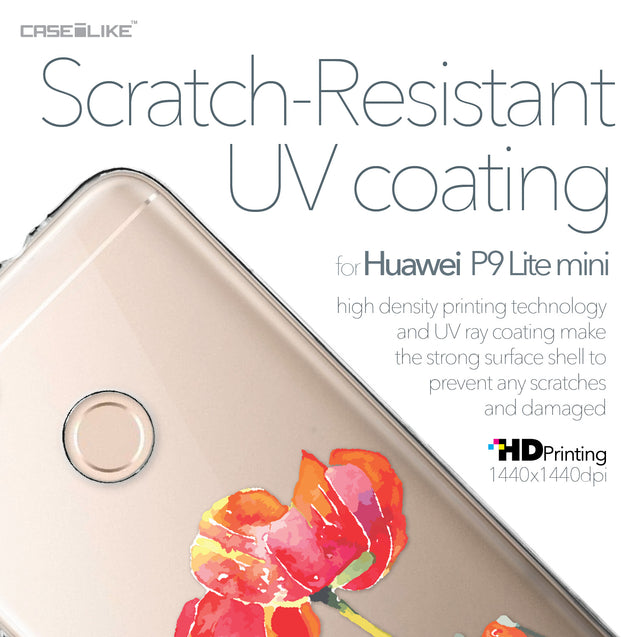 Huawei P9 Lite mini case Watercolor Floral 2230 with UV-Coating Scratch-Resistant Case | CASEiLIKE.com