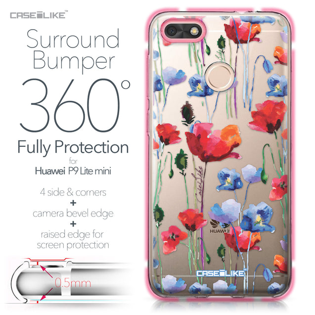 Huawei P9 Lite mini case Watercolor Floral 2234 Bumper Case Protection | CASEiLIKE.com