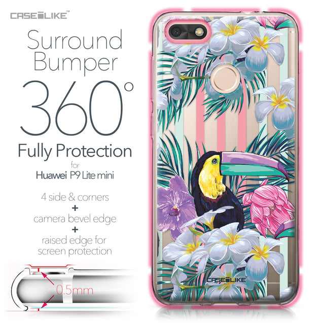 Huawei P9 Lite mini case Tropical Floral 2240 Bumper Case Protection | CASEiLIKE.com